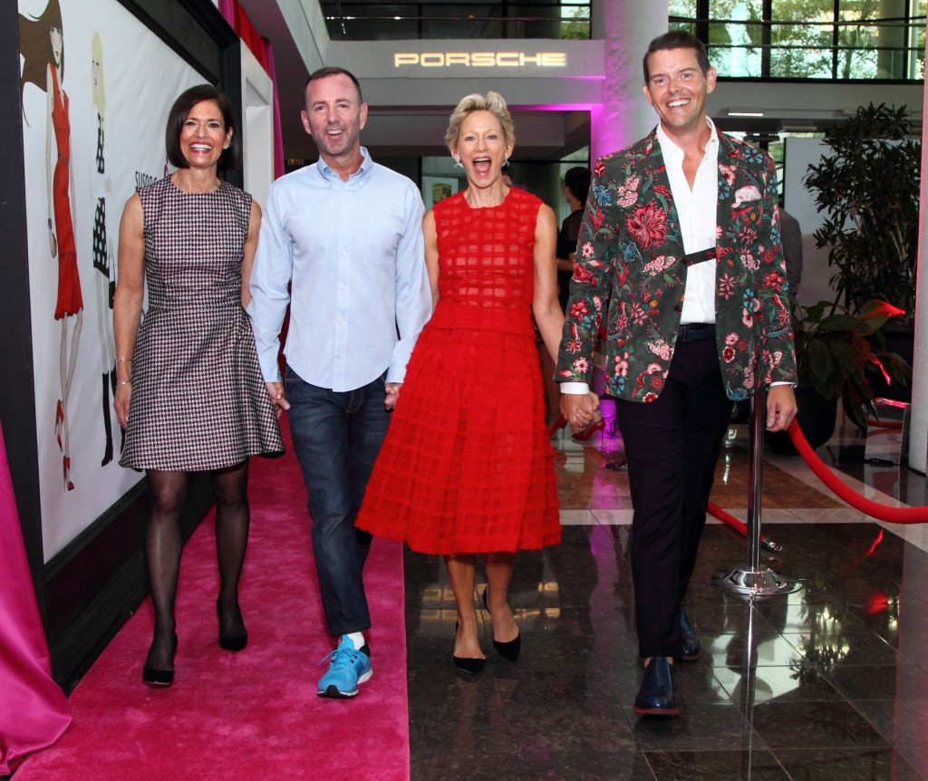 Jeffrey Kalinsky with Jeffrey Fashion Cares co-chairs Lila Hertz, Jeffrey McQuithy and Louise Sams. Photo by Ben Rose