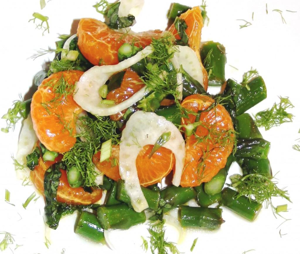 Celmentine Orange and Asparagus