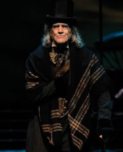 Kayser as Scrooge in 2013.