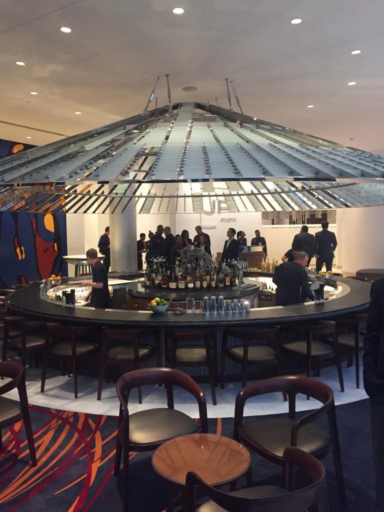 The circular bar inside the Portman namesake restaurant, JP Atlanta.
