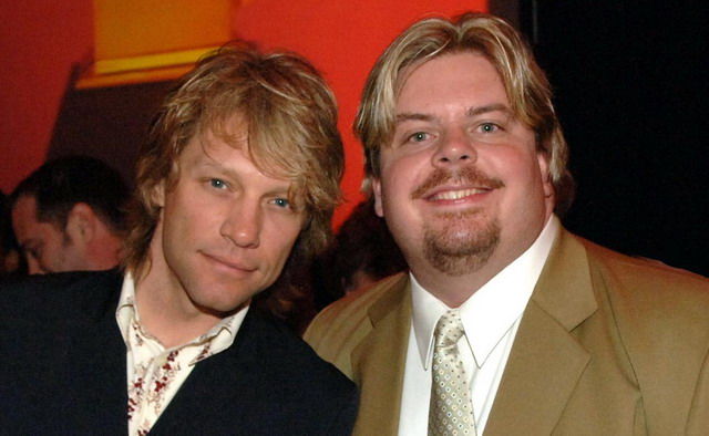 With singer-actor Jon Bon Jovi.