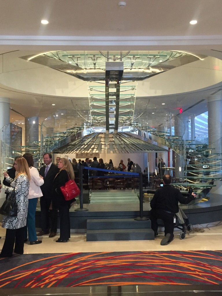 The Hotel Indigo lobby.