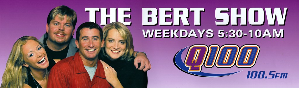 The Bert Show's original 2001 line up.