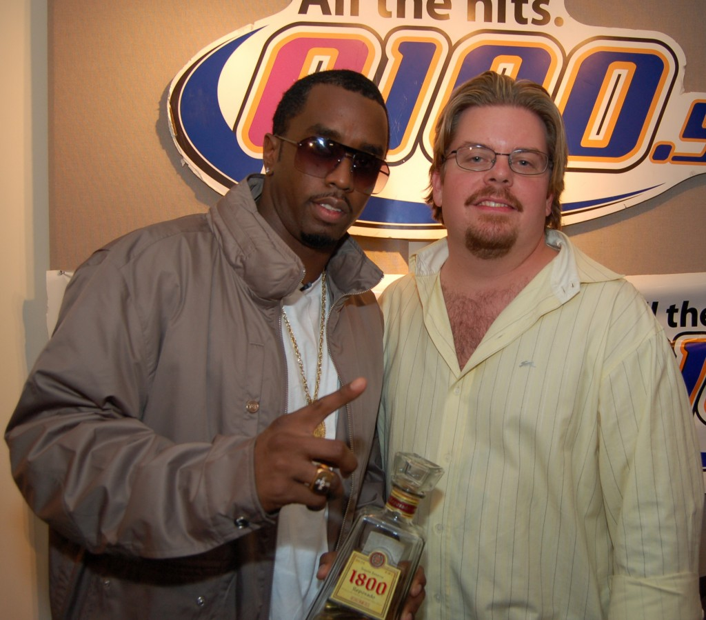 With rapper-actor-producer Diddy.