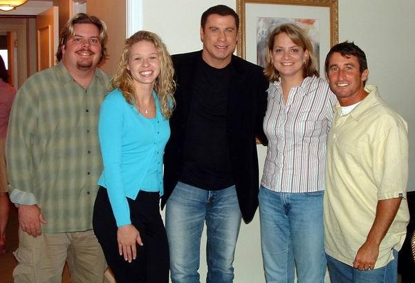 With actor John Travolta.