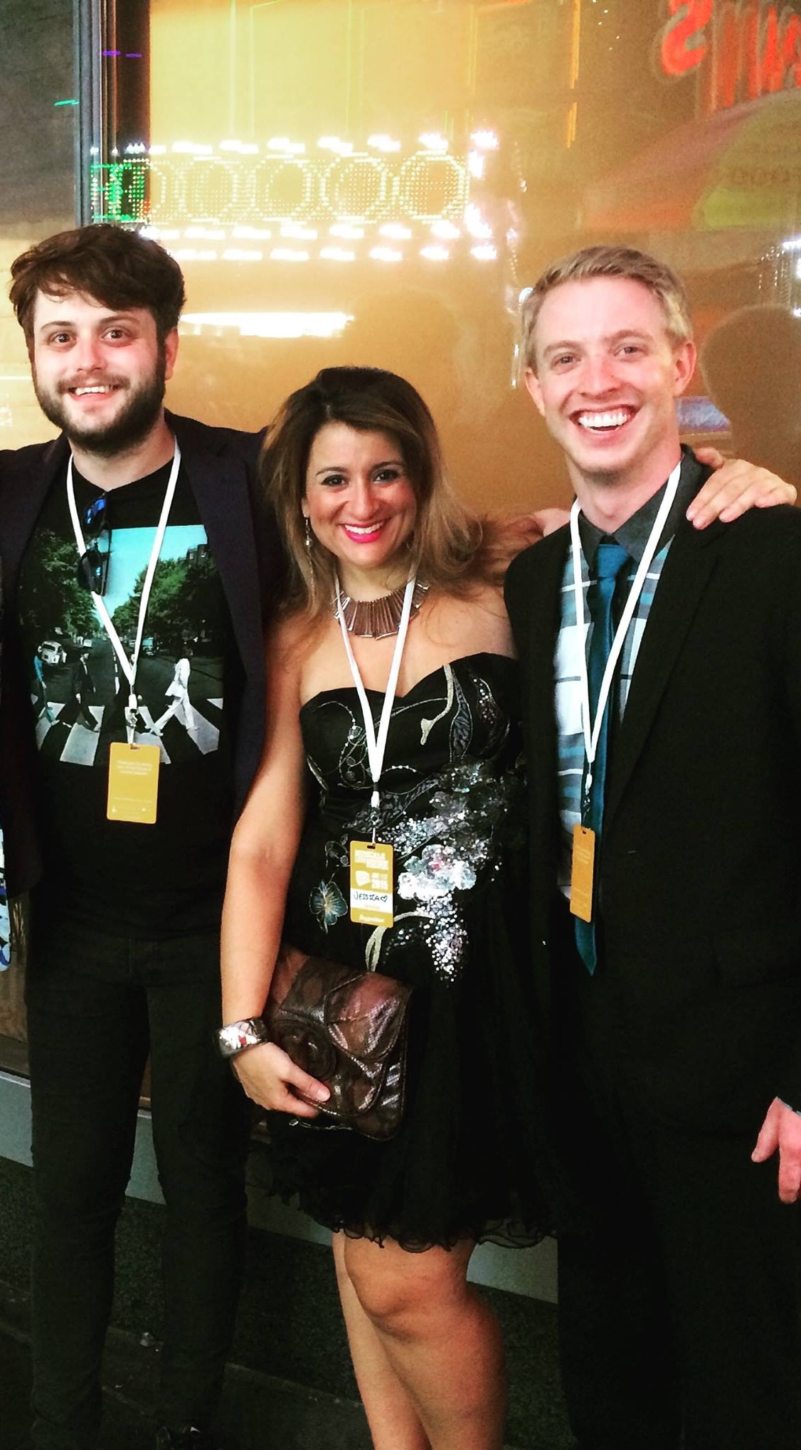 "Davis (right) with ""The Last Time We Were Here"" creators Jeremiah Parker Hobbs and Jessica DeMaria."