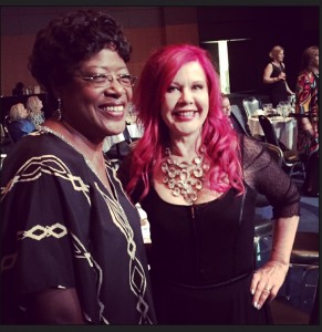 Reed with fellow Georgia Music Hall of Fame inductee Kate Pierson of The B52s.