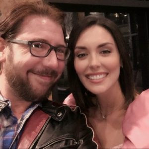"On set, Payne with ""My Summer Prince"" actress Taylor Cole. Photo courtesy of the playwright"