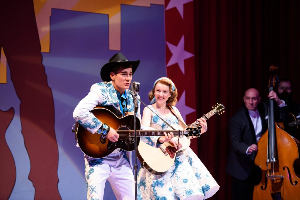 """""""Troubadour's"""" finale """"All American"""" with Joe and Inez."""